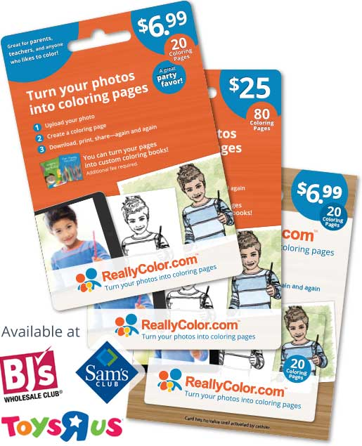 Give a ReallyColor.com gift card as a gift