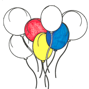 ReallyColor Balloons Coloring Page