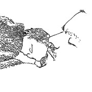 ReallyColor - Daddy and Baby Sleeping Coloring Page