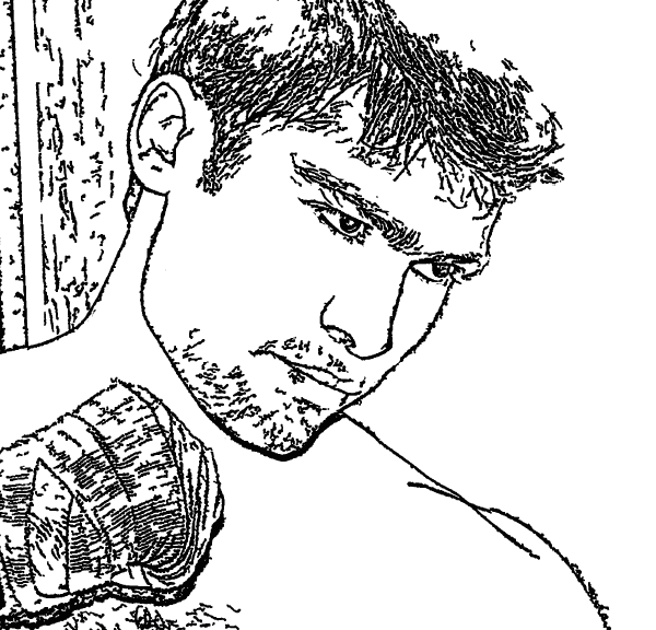 Free Downloadable boxing coloring page converted from a photo
