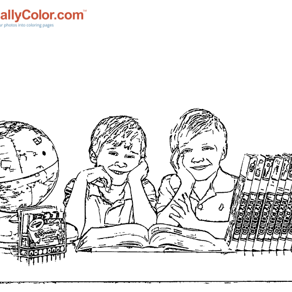 ReallyColor - In School Coloring Page