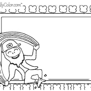 Lucky Jump Rope Coloring Page