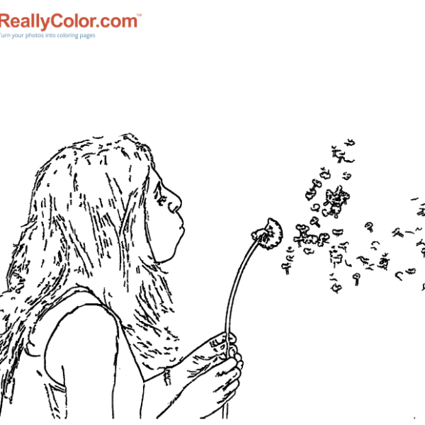 ReallyColor - Make A Wish Coloring Page