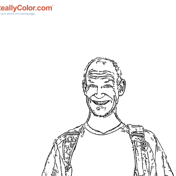 ReallyColor - One Happy Guy Coloring Page