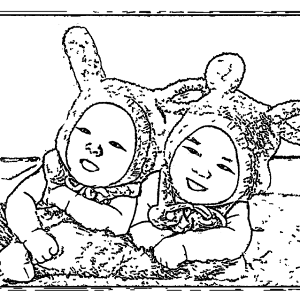 ReallyColor - Twins Coloring Page