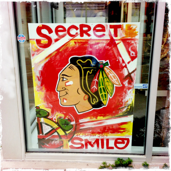 Chicago Blackhawks Secret Smile Photo