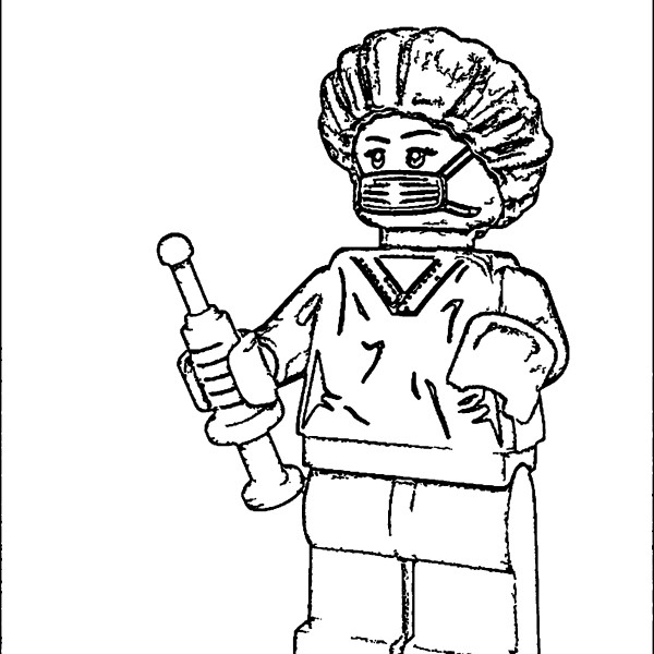 Toy Doctor Coloring Page