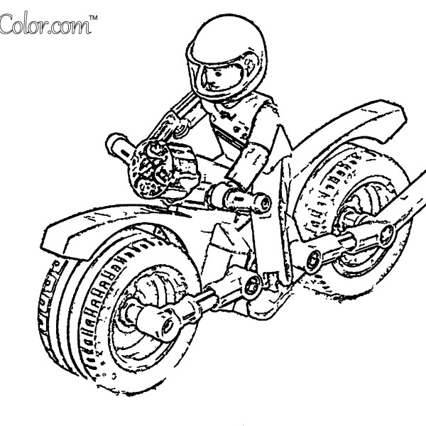 Toy Motorcycle Coloring Page