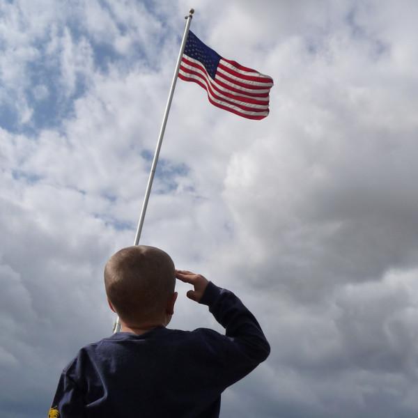 Flag Salute Photo