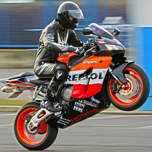 Motorcycle Wheelie Photo