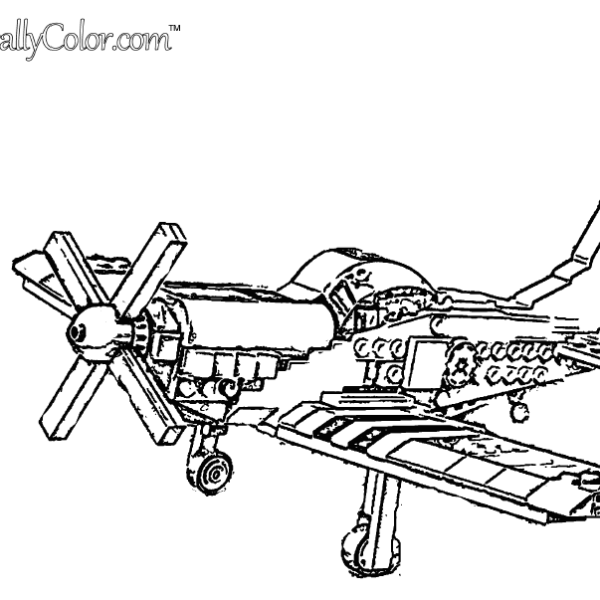 Toy Propeller Airplane Coloring Page