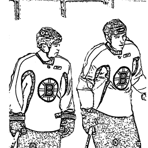 Savard and Lucic Boston Bruins Coloring Page