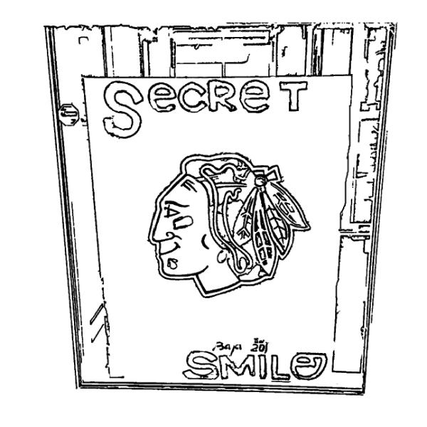 Chicago Blackhawks Secret Smile Coloring Page