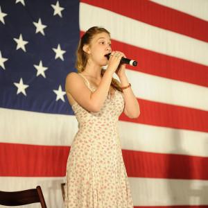 Flag Singer Photo