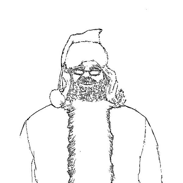 ReallyColor - Santa Coloring Page