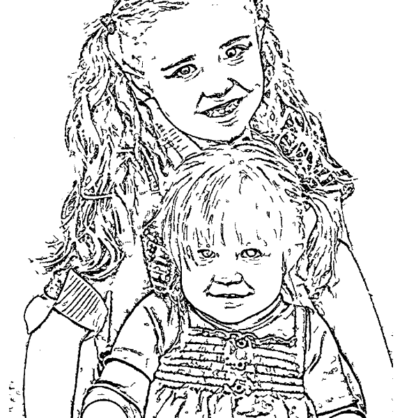 ReallyColor User Hall of Fame - All Dressed Up Coloring Page