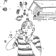 ReallyColor User Hall of Fame - Blowing Bubbles Coloring Page
