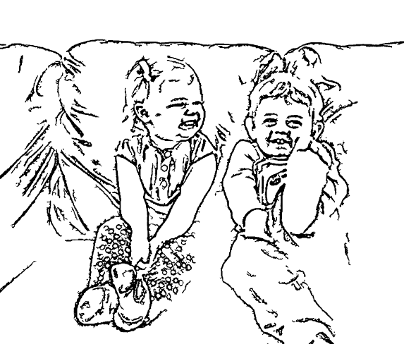 ReallyColor User Hall of Fame - Couch Cuteness Coloring Page