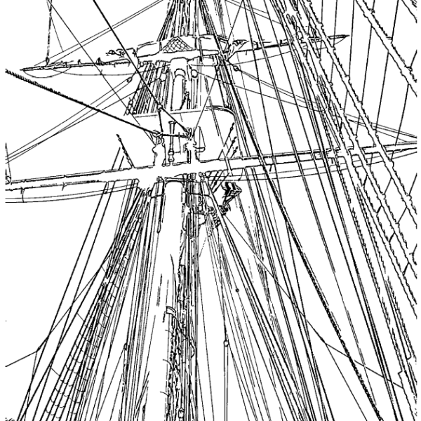 ReallyColor User Hall of Fame - Sailboat Mast Coloring Page