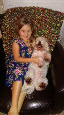 ReallyColor - Girl And Her Dog Photo