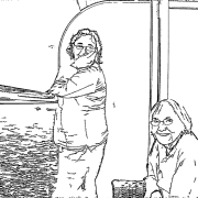 ReallyColor User Hall of Fame - Family Cruise Coloring Page