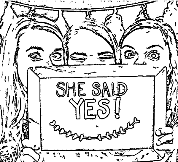 ReallyColor User Hall of Fame - She Said Yes Coloring Page