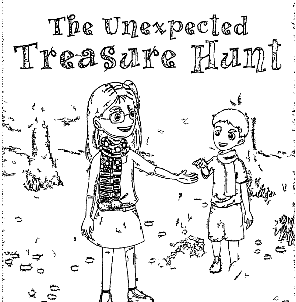 ReallyColor User Hall of Fame - Unexpected Treasure Hunt Coloring Page
