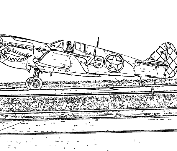 ReallyColor User Hall of Fame - Ready For Takeoff Coloring Page