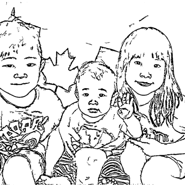 ReallyColor User Hall of Fame - Siblings Coloring Page
