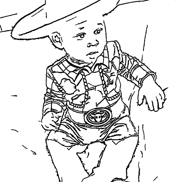 ReallyColor Hall of Fame - Little Cowboy Coloring Page