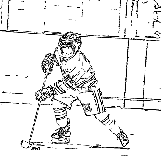 ReallyColor User Hall of Fame - Hockey Player Coloring Page