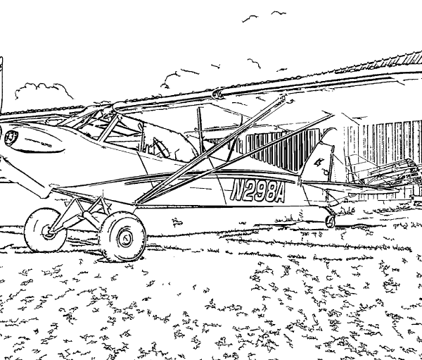 ReallyColor User Hall of Fame - Propeller Plane Coloring Page
