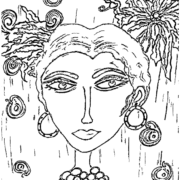 ReallyColor User Hall of Fame - Artistic Woman Coloring Page