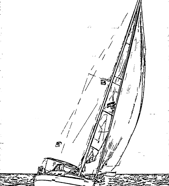 ReallyColor User Hall of Fame - Sailboat Season Coloring Page