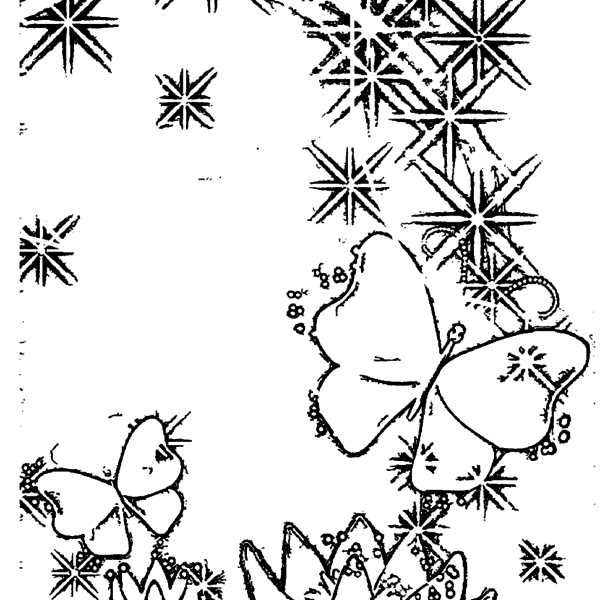 ReallyColor User Hall of Fame - Butterfly Magic Coloring Page
