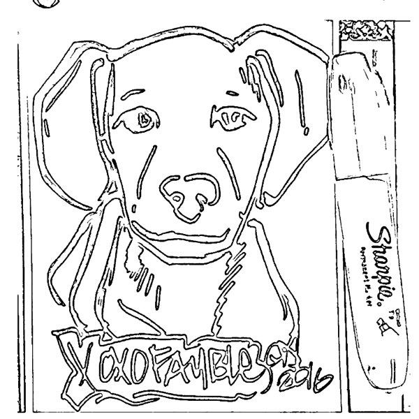 ReallyColor User Hall of Fame - Draw Your Puppy Coloring Page