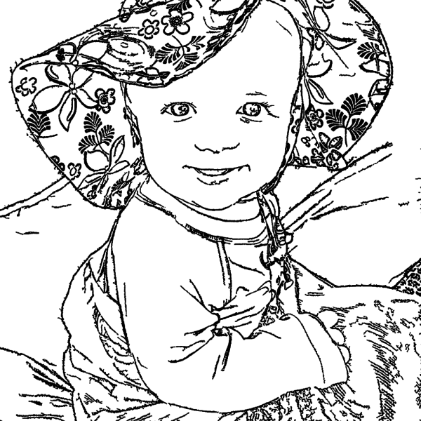 ReallyColor User Hall of Fame - Baby Smiles Coloring Page