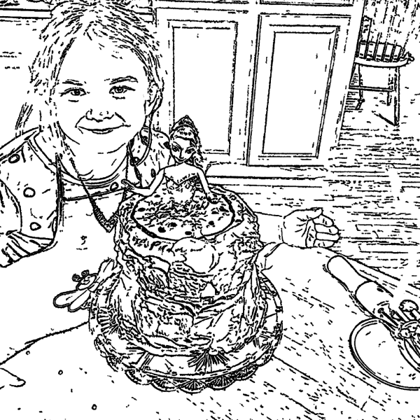 ReallyColor User Hall of Fame - Bake Me A Cake Coloring Page