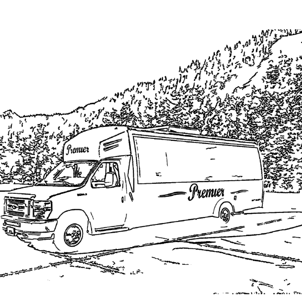 ReallyColor User Hall of Fame - Bus Ride Coloring Page