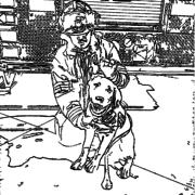 ReallyColor User Hall of Fame - Fireman Dog Coloring Page