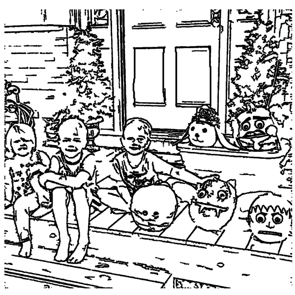 ReallyColor User Hall of Fame - Halloween Memories Coloring Page