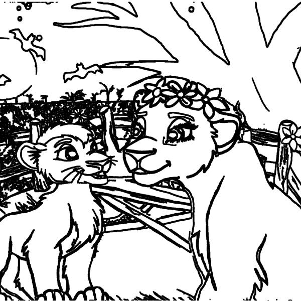 ReallyColor Hall of Fame - Lions Coloring Page