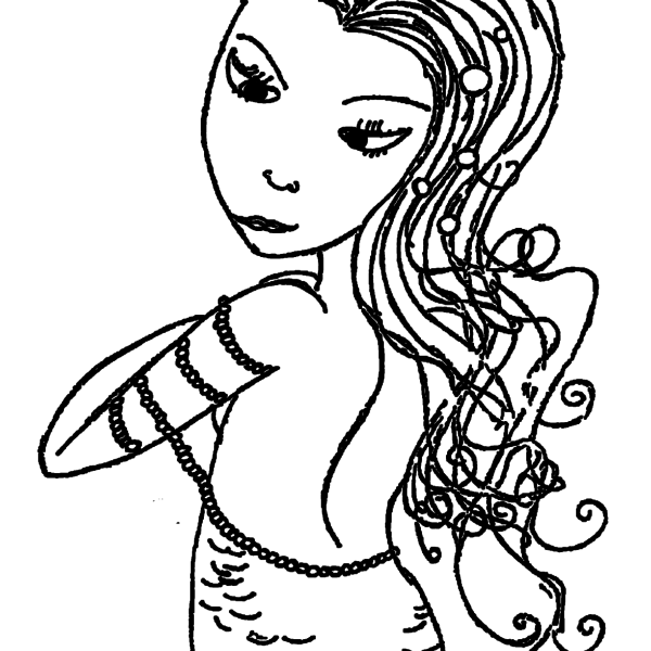 ReallyColor User Hall of Fame - Lady Coloring Page