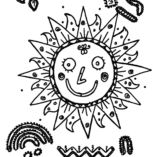 ReallyColor User Hall of Fame - Smiling Sun Coloring Page