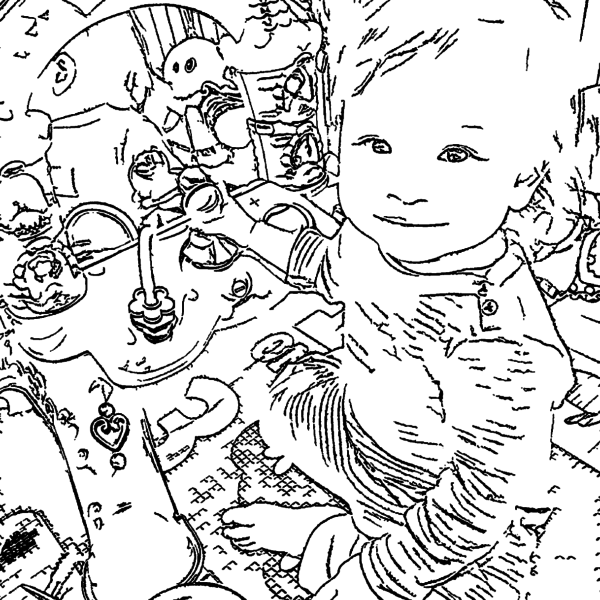 ReallyColor Hall of Fame - Baby Play Coloring Page