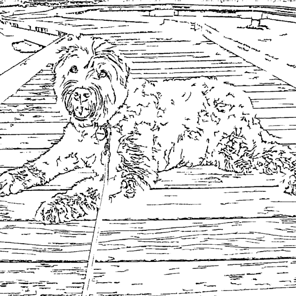 ReallyColor Hall of Fame - Good Dog Coloring Page
