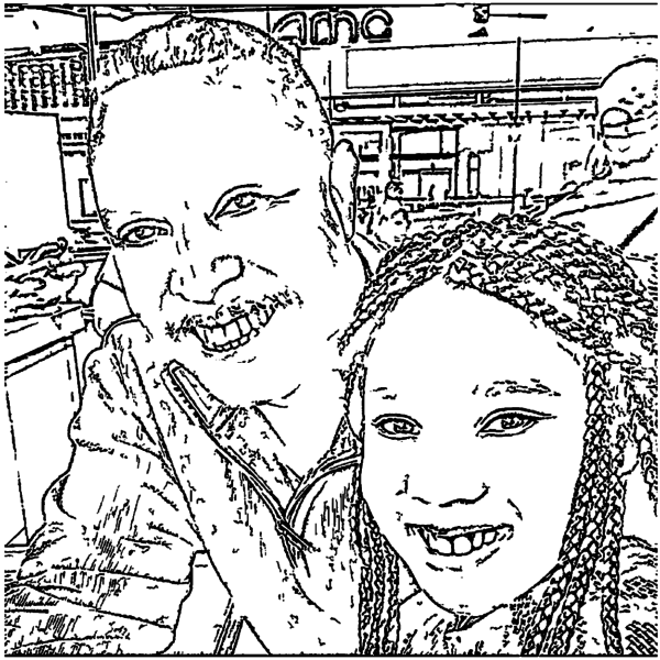 ReallyColor User Hall of Fame - Father's Day Love Coloring Page