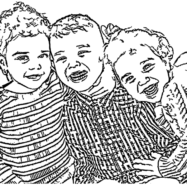 ReallyColor Hall of Fame - Love Times Three Coloring Page
