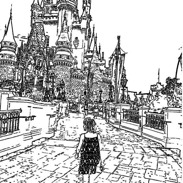 ReallyColor Hall of Fame - Fantasy Bridge Coloring Page