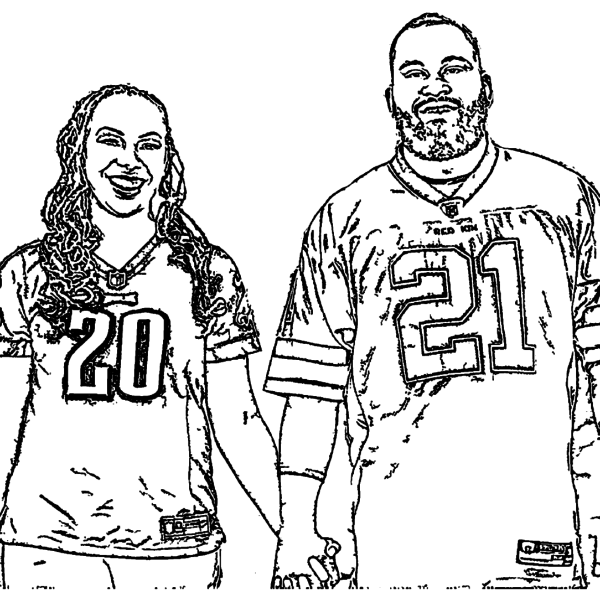 ReallyColor Hall of Fame - Sport Love Coloring Page